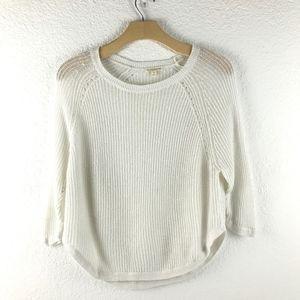 Eileen Fisher White Linen Sweater S
